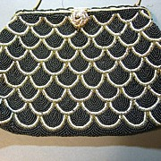 Vintage purse beaded mid century excellent