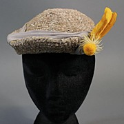 Vintage hat tilt top 1930s w hat pin