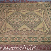 Antique Pre Civil War Era Coverlet Hand Knotted HM32