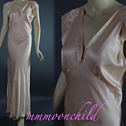 Vintage silk nightgown 1930s Vamp