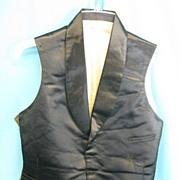 Antique mens waistcoat vest C 1840