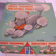 """Prince Charming Irresistible Poodle"" Battery Operated Toy 1970's"