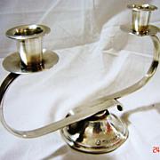 JUDAICA - Superb Art Deco Double Sconce Candelabra