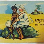 Early British Colonial Card 'Darkness That Can Be Felt'