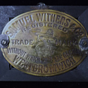 Samuel Withers & Co Brass SAFE Name Plate