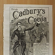 Drink Cadbury's Cocoa - Full Page The Graphic 1887