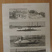 The Nordenfelt Submarine Boat - The Graphic 1887