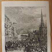 The Queen's Visit To Birmingham - The Graphic 1887