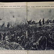 WWI -Artillery At Amiens -London Illustrated News