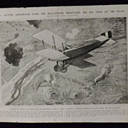WWI - British Aeroplane Over Montello -Illustrated London News 1918