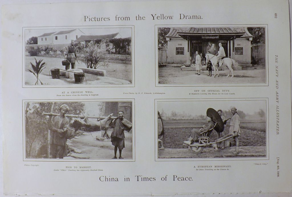 The Yellow Drama -The Army & Navy Illustrated 1900