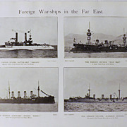 Foreign War-ships In The Far East -The Navy & Army Illustrated 1900
