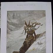 CUPID Tobogganing'  -The Graphic 1880