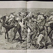 Our Blue Jackets On Board The Ships Of The Desert -The Graphic 1885