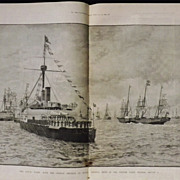 The Royal Yacht With German Emperor -The Illustrated London News 1889