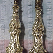 Stunning Edwardian Matched Silver Handled Bootlace Hook & Shoe Horn
