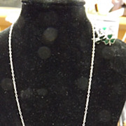 Shamrock Necklace with Matching Earings- All silver & Enamel
