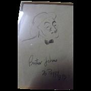 Edmund Blampied Pencil Sketch 'Brother John'