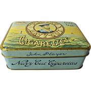 Players Navy Cut  'Gold Leaf' Cigarette Tin