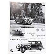 Art Deco 'ROLLS ROYCE' Advertisement  - The Sphere 1936
