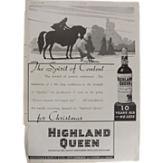 Art Deco 'HIGHLAND QUEEN' Advertisement  - The Sphere 1936