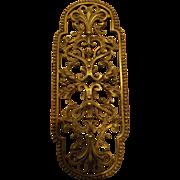 Victorian  Filigree Finger Plate