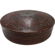 CH ' ING Dynasty Lacquered Hat Box Circa 1870