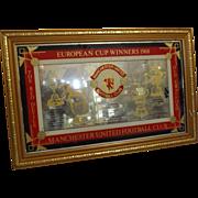 Manchester United Football Club 1968 European Cup Commemorative Mirror