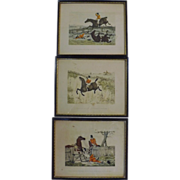 Set Of Three Antique 'HUNT' Engravings Circa 1860-1880