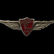 Qantas 'V Jet' Club Wings Badge