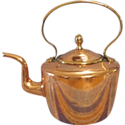 Georgian Copper Kettle With Dovetail Seams and Goose Neck Spout