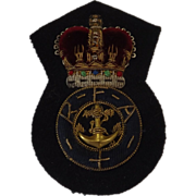 British Royal Navy Royal Fleet Auxiliary Cap Insignia - Fleet Officer