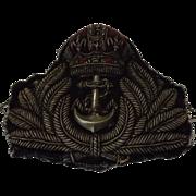 British Royal Navy  Officers Cap Insignia - 'Kings Crown'