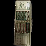 OMEGA Pocket Adding Machine  -WescosA  USA 1964