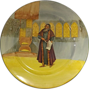 Royal Doulton Shakespeare Series Rack Plate 'SHYLOCK' Series D3596
