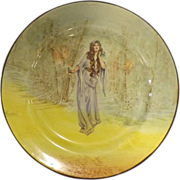 Royal Doulton Shakespeare Series Plate 'OPHELIA' Series D3596