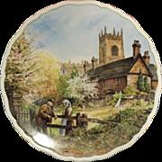 ROYAL DOULTON Plate Village Life - 'On Memory Lane' Anthony Forster 1989
