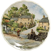ROYAL DOULTON Plate Village Life - 'The Young Fisherman' Anthony Forster 1989