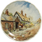 ROYAL DOULTON Plate Village Life - 'Pride and Patience' Anthony Forster 1989