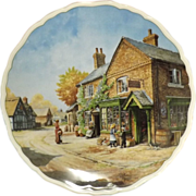 ROYAL DOULTON Plate Village Life - 'Penny Wise' Anthony Forster 1989