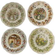 Royal Doulton Brambly Hedge Collection  - Set Four Plates