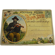 Happy South 'Way Down South In Dixie' Postcard Folder - Circa 1920