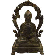 Very Old Thai Bronze Buddha - Circa 1900