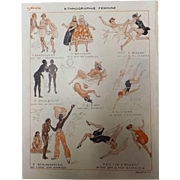 Risque French Cartoon 'Ethnographie Feminine' - Sourire Magazine 1931