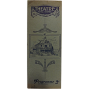 Theatre Program - Theatre Royal Exeter 1918