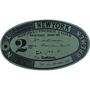 Early 1900's Baggage Label From The Liner  Kaiser Wilhelm 11