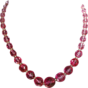 Stunning Raspberry Red  Crystals Choker Necklace