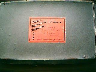 "Vintage ""BAVINS"" Piano Class Instructor 1912"