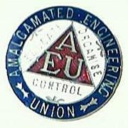 Vintage Amalgamated Engineers Union Badge