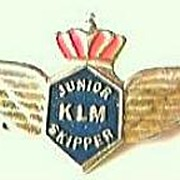 Vintage KLM Airlines Junior Skipper Badge